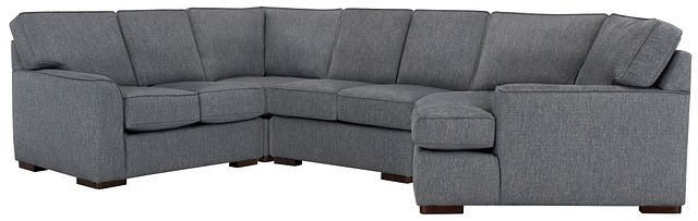Austin Blue Fabric Small Right Cuddler Sectional (0)