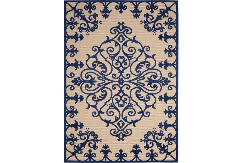 Aloha Blue Indoor/outdoor 2x3 Area Rug