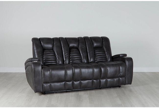 Nexus Gray Micro Power Reclining Sofa