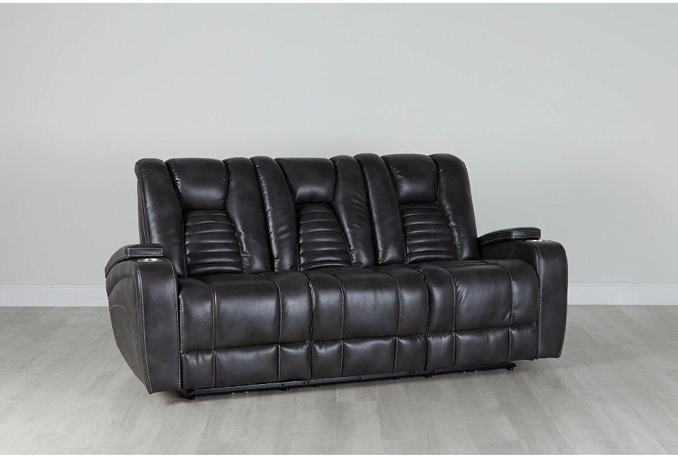 Nexus Gray Micro Power Reclining Sofa, %%bed_Size%% (0)