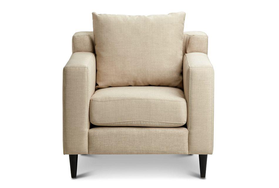 Novara Light Beige Fabric Accent Chair,  (2)