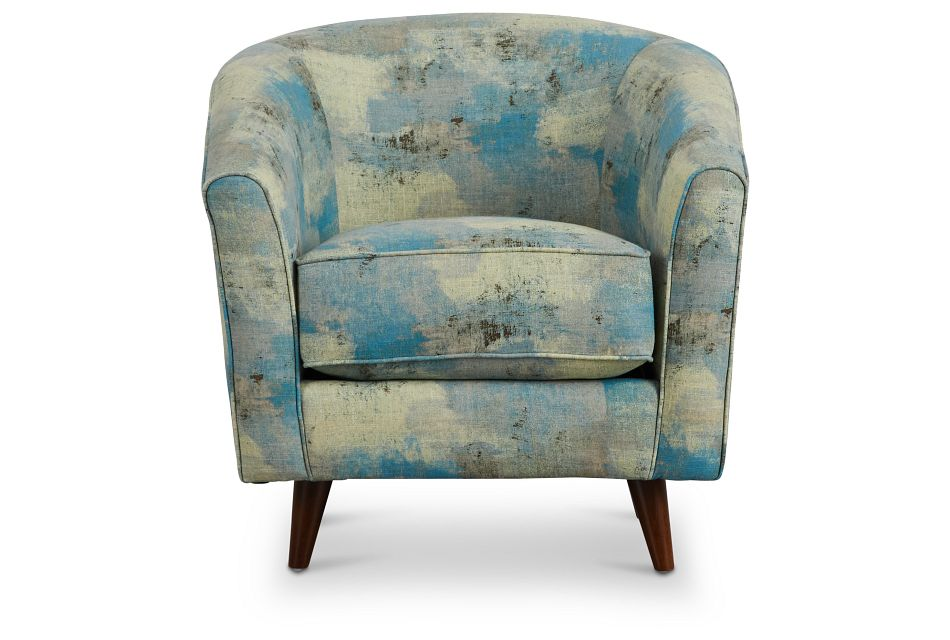 Antalya Teal Fabric Accent Chair,  (3)