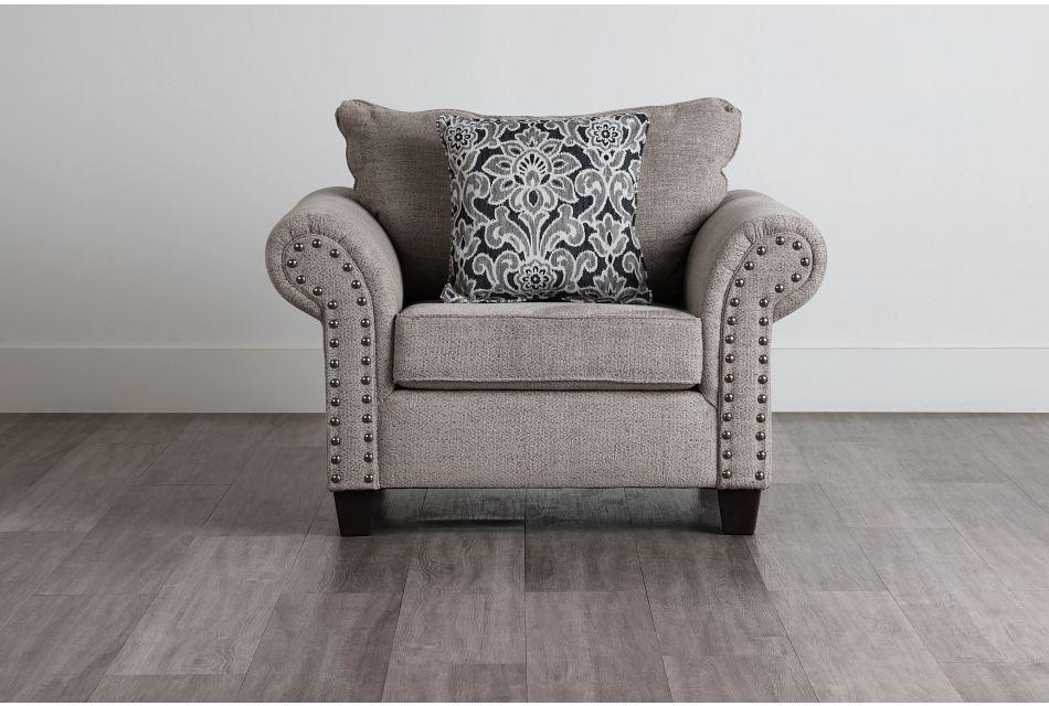 Adrian Light Gray Fabric Chair,  (0)