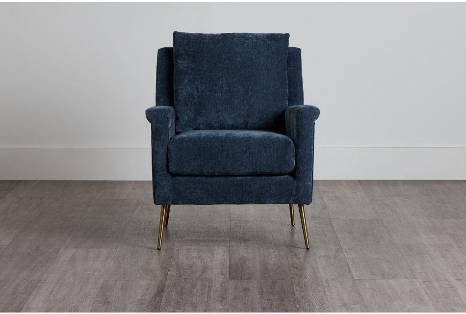 Cambridge Gray Velvet Accent Chair,