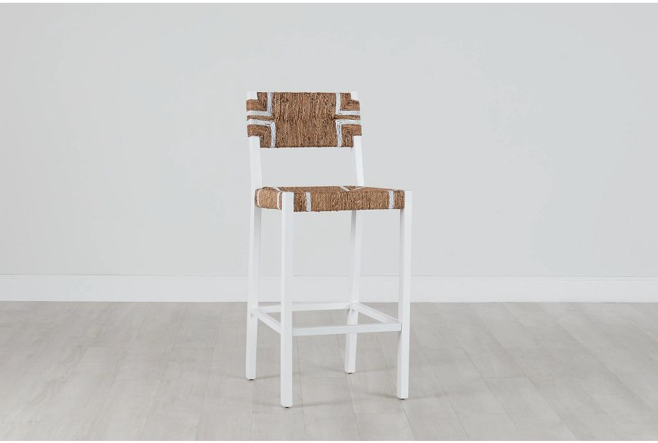 "Nantucket Light Tone 30"" Woven Barstool"