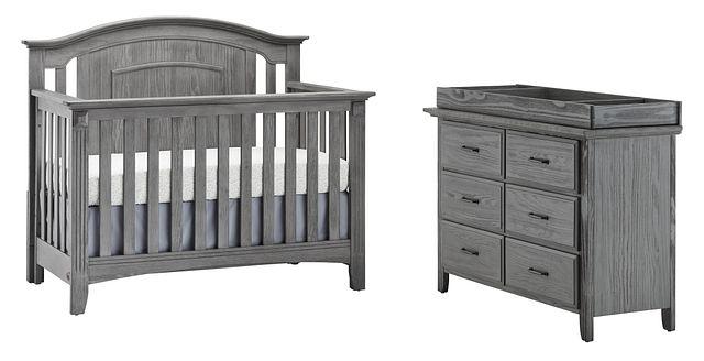 Willowbrook Gray Small Crib Bedroom
