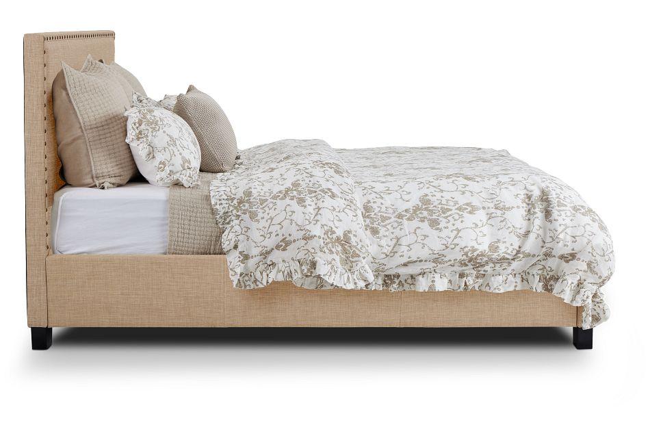 Holden Taupe Uph Platform Bed, Queen (2)