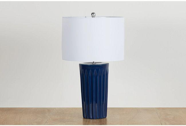 Briggs Blue Table Lamp