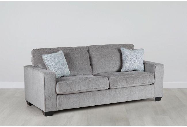 Altari Light Gray Micro Sofa