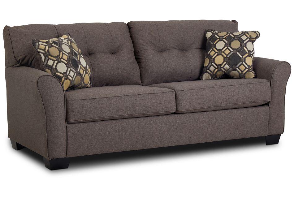 Laryn Dark Gray Micro Sofa,  (2)