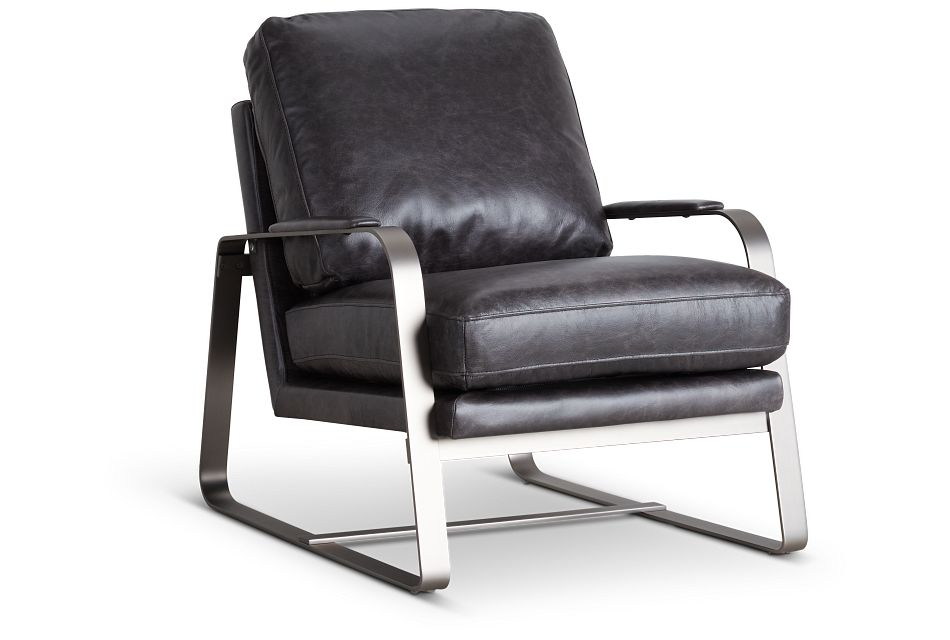 Lex Black Lthr/vinyl Accent Chair,  (0)