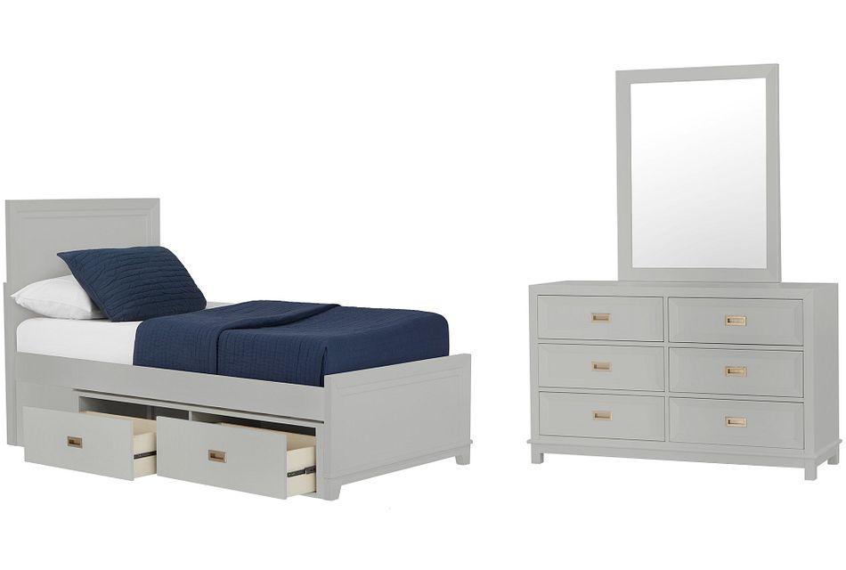 Ryder GRAY  Panel Storage Bedroom, Twin (0)