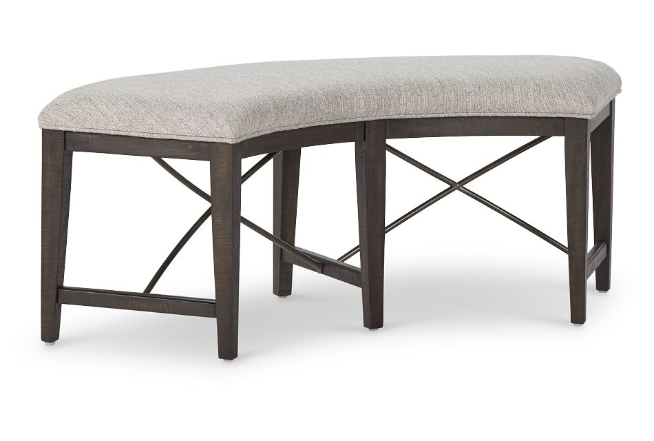 Heron Cove Dark Tone Curved Dining Bench