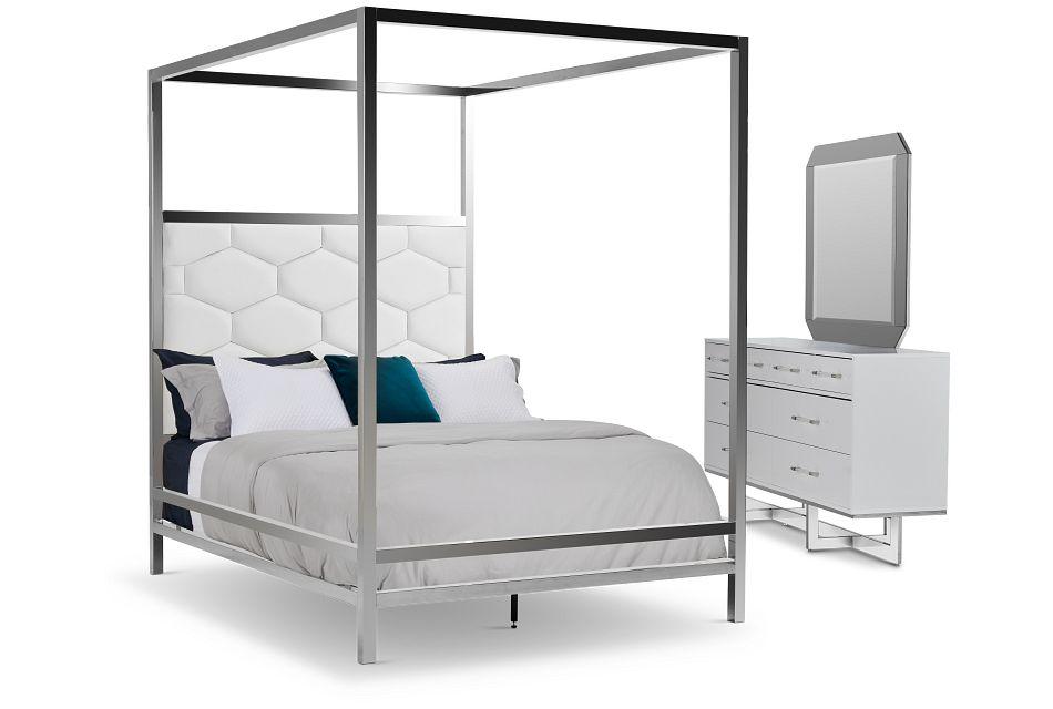 Cortina White Canopy Bedroom