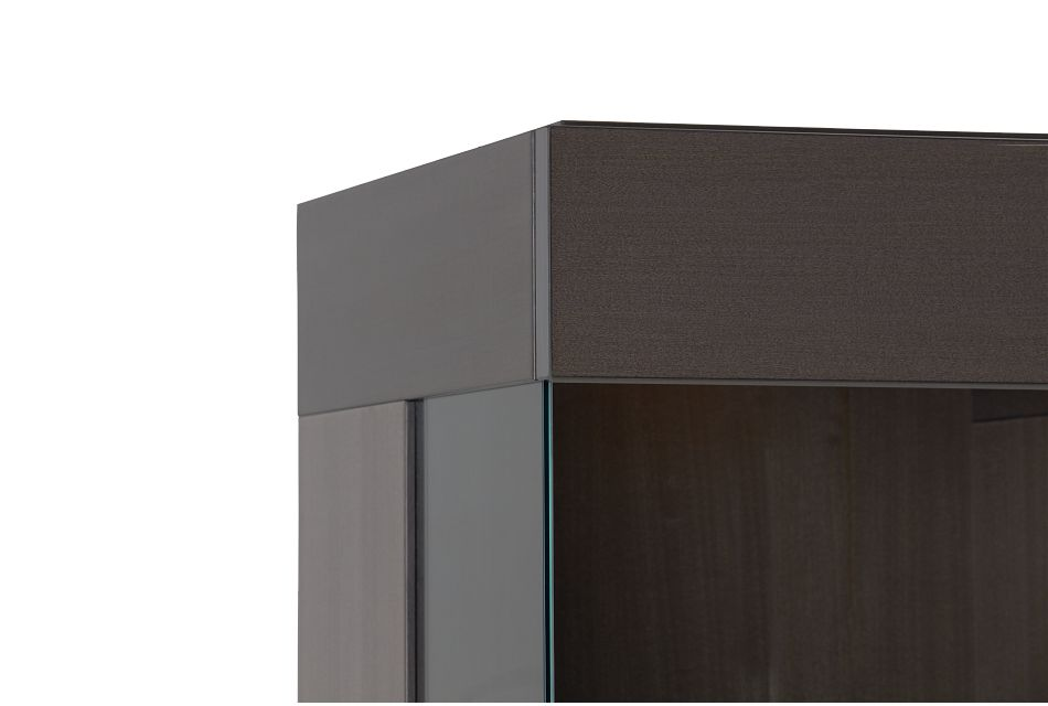 Athena Dark Gray Curio Cabinet