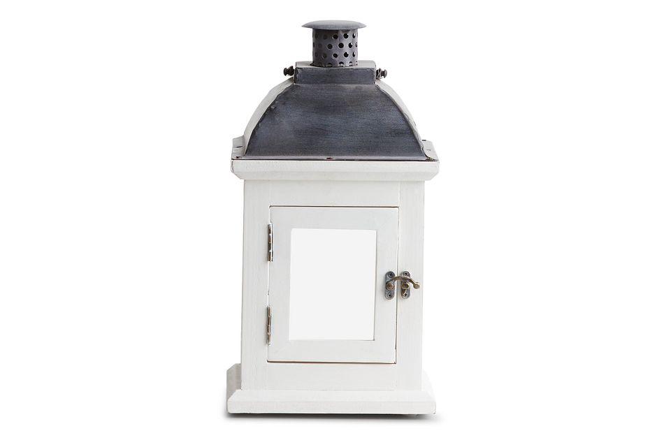 Greensville White Small Lantern