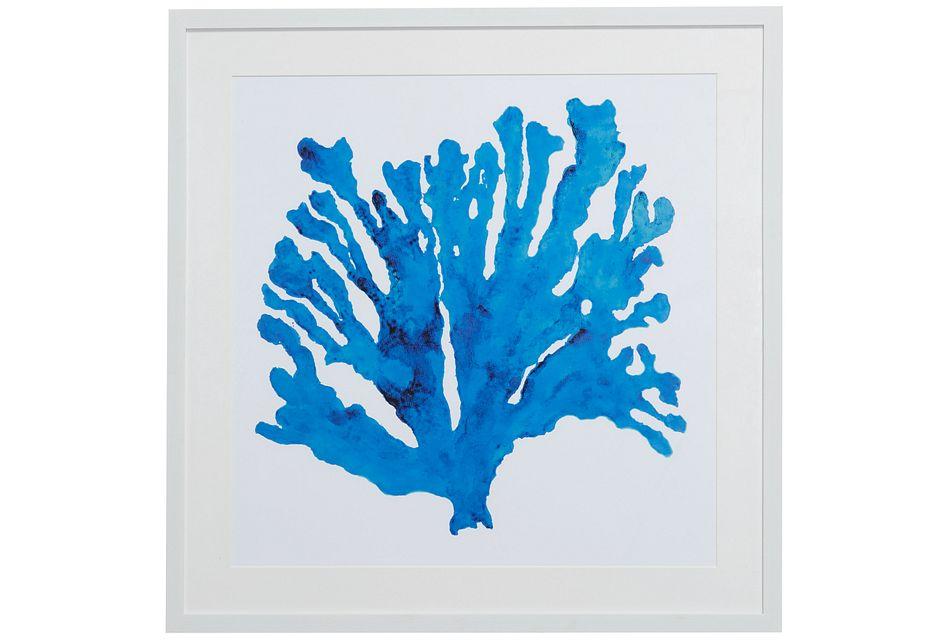 Coralrock Blue Framed Wall Art