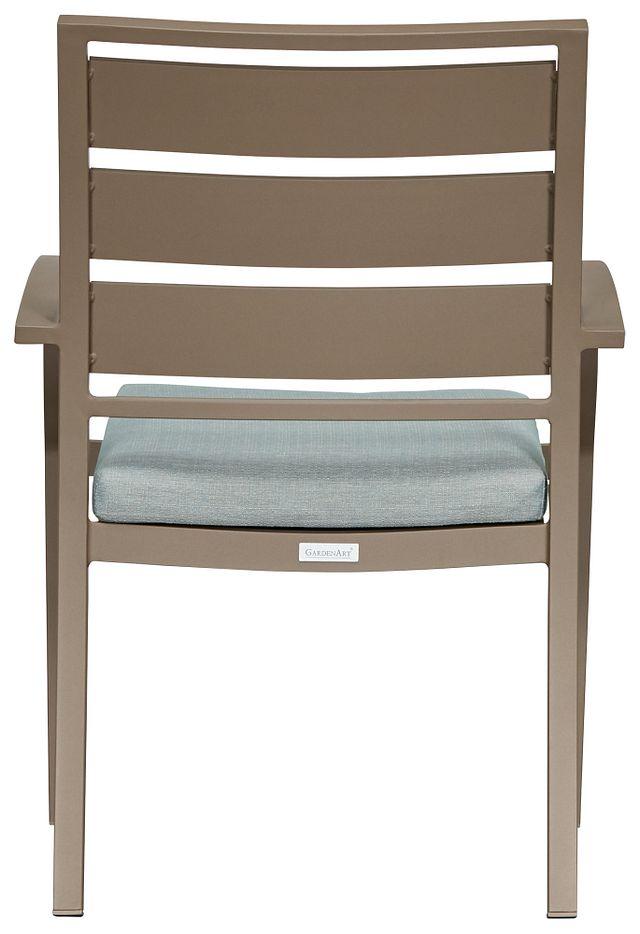 Raleigh Teal Aluminum Arm Chair (2)