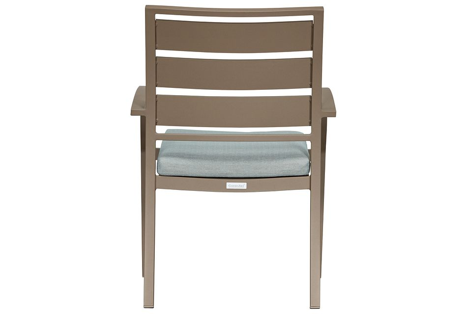 Raleigh Teal Aluminum Arm Chair,