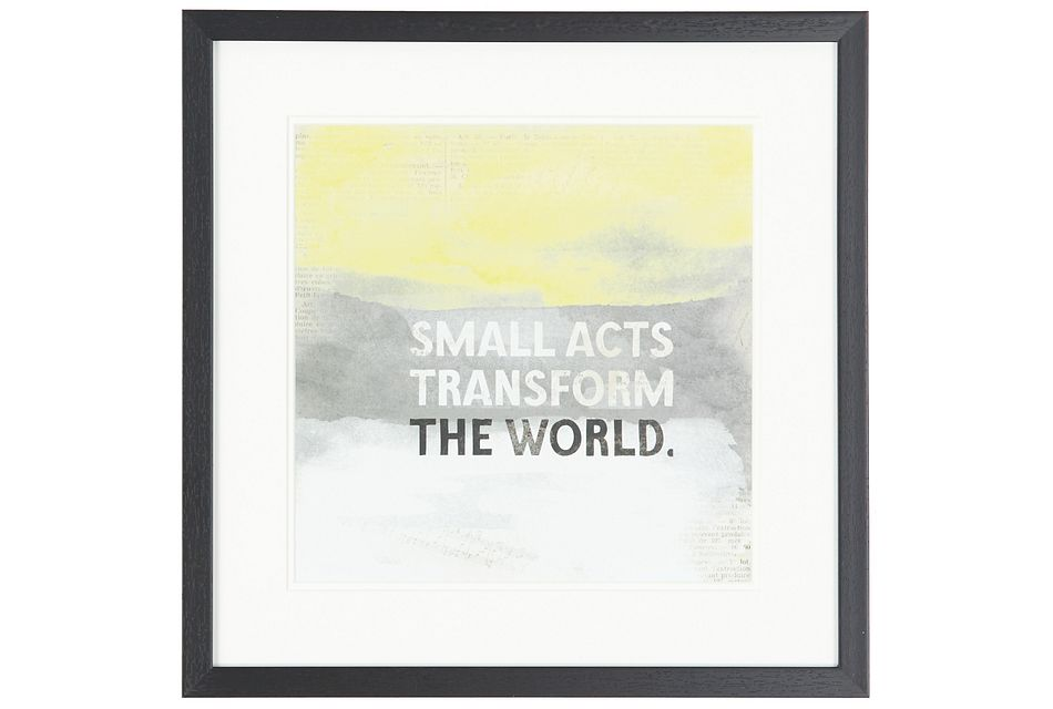World Yellow Framed Wall Art