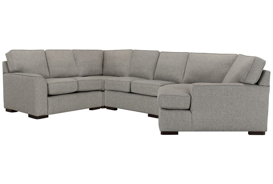 Austin Gray Fabric Small Right Cuddler Sectional
