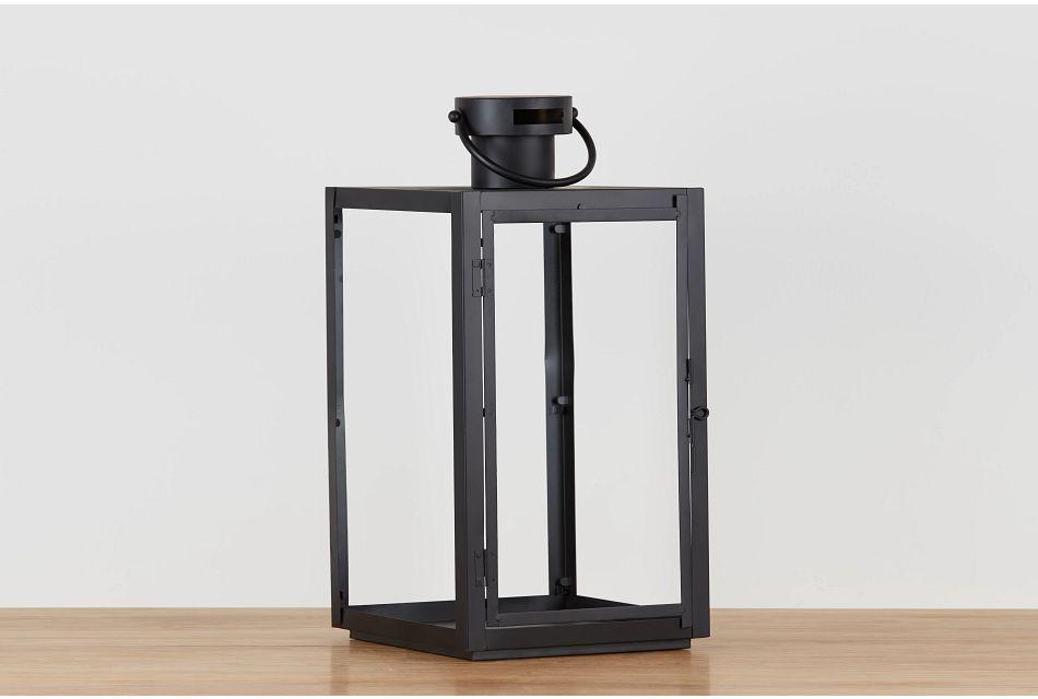 Madison Black Large Lantern