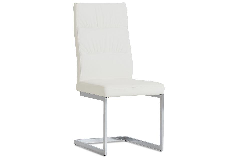 Bronx White Upholstered Side Chair,  (1)