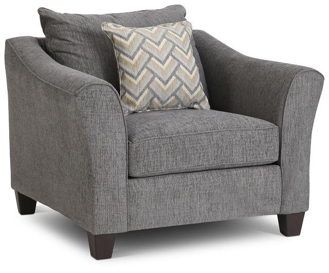 Maggie Dark Gray Fabric Chair (1)