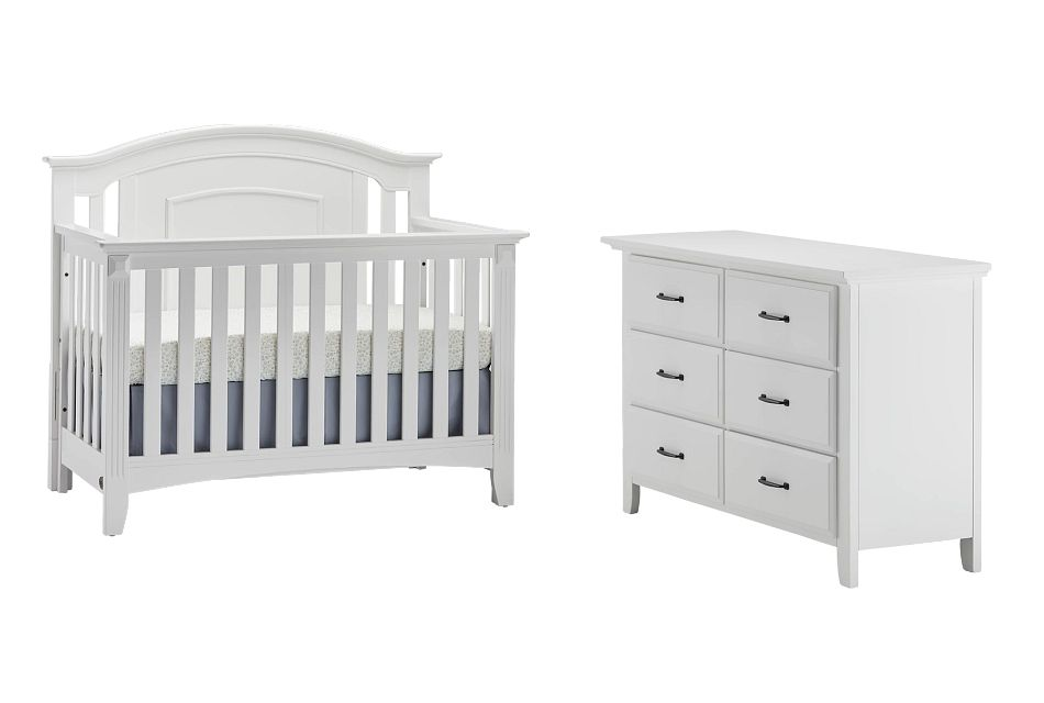 Willowbrook White Crib Bedroom