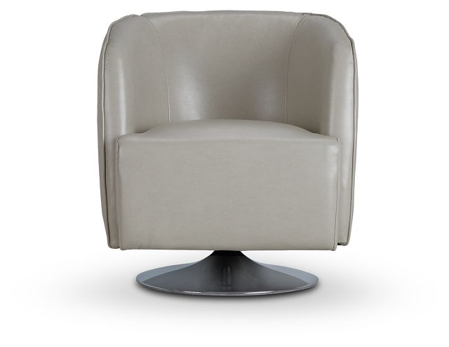 Alec Light Gray Micro Swivel Accent Chair