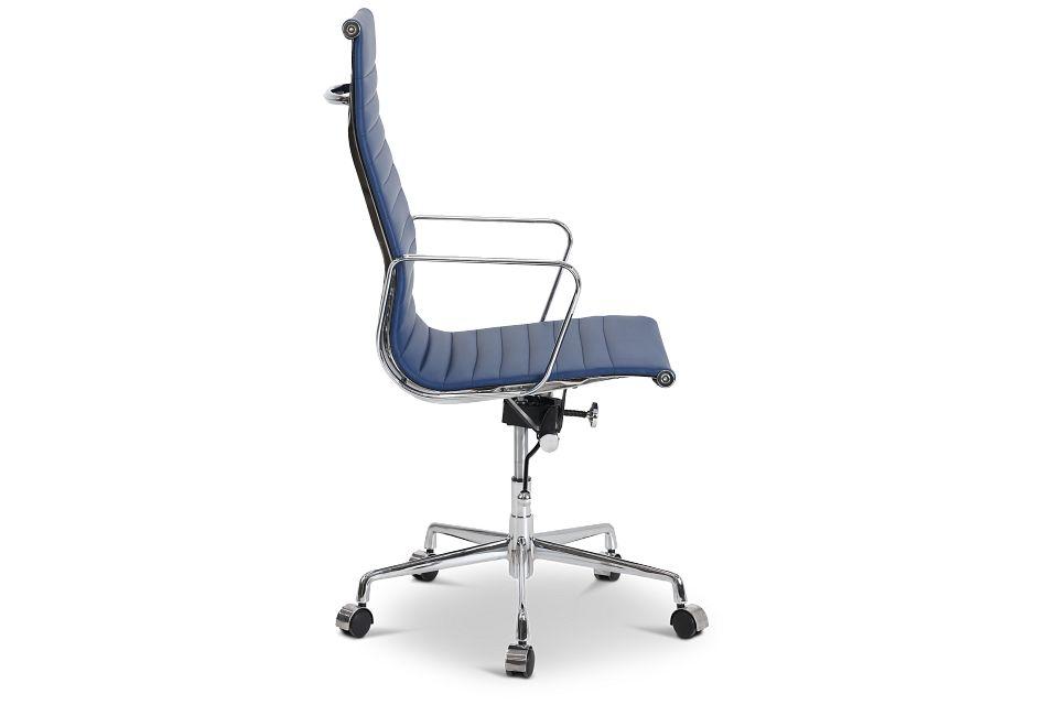 Amos Dark Blue Desk Chair