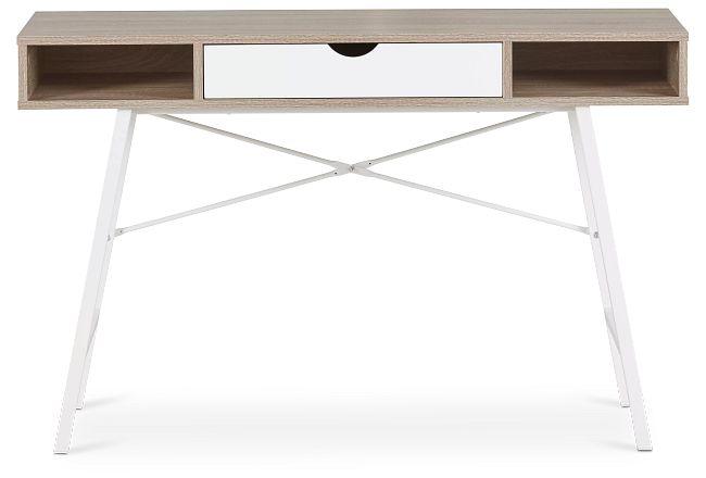 Dallas White Two-tone Desk