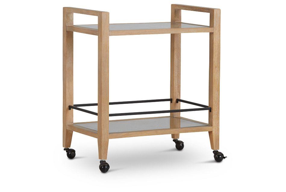 Nantucket Light Tone Woven Bar Cart