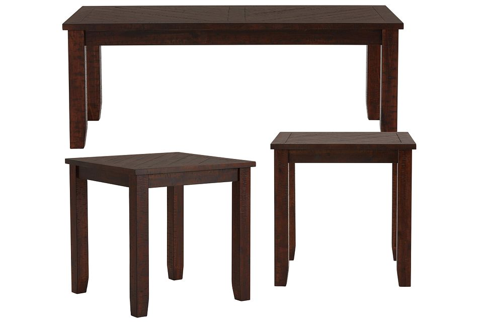 Jax Dark Tone Wood 3 Pack Tables