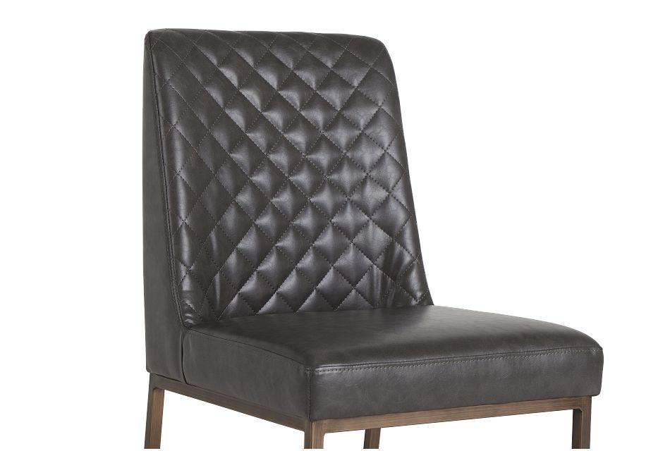 Sierra Dark Gray Bonded Ltr Side Chair