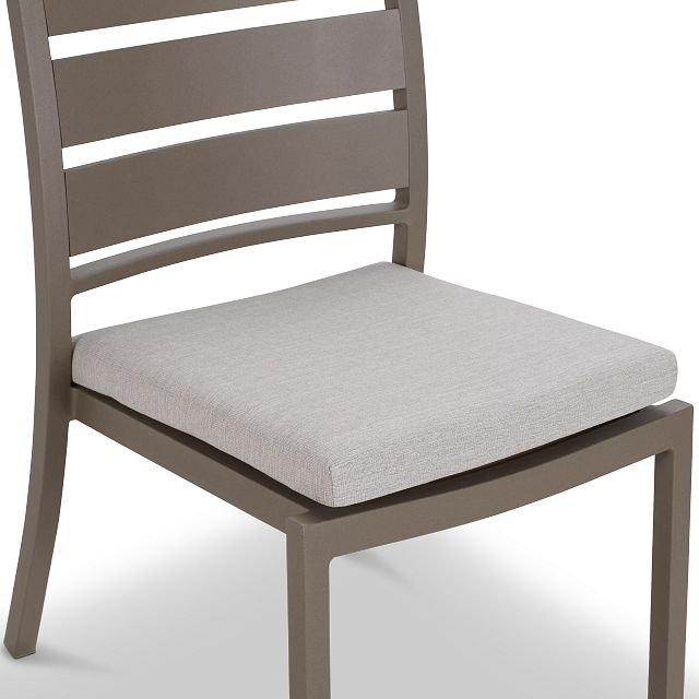 Raleigh White Aluminum Side Chair