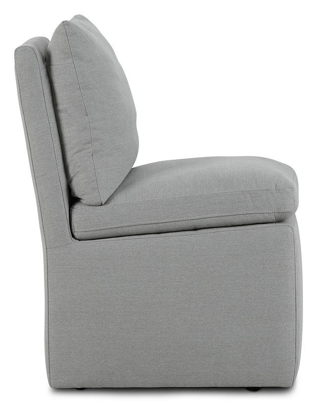 Auden Light Gray Castored Upholstered Side Chair (2)