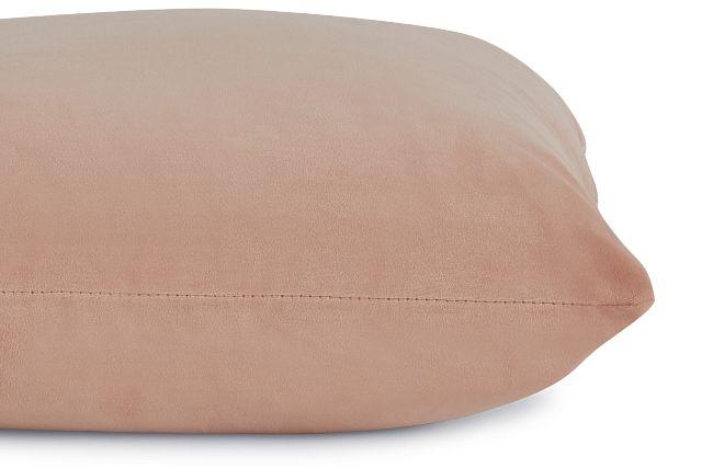 """Joya Light Pink Velvet 18"""" Accent Pillow (2)"""
