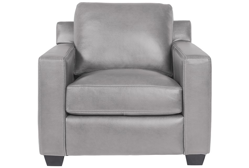Carson Gray Leather Chair