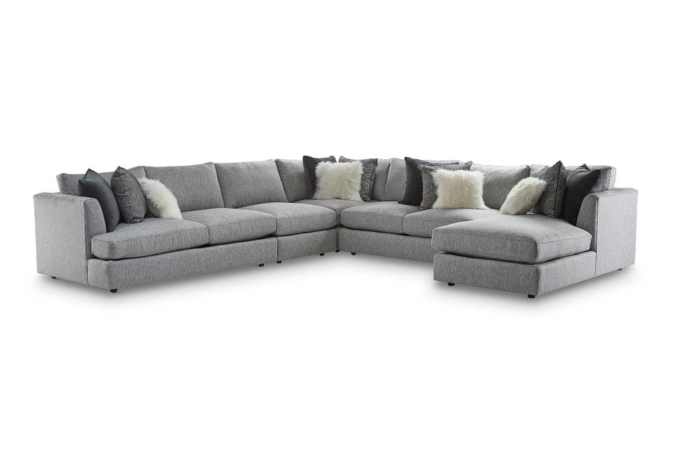 Fabric Large Right Chaise Sectional