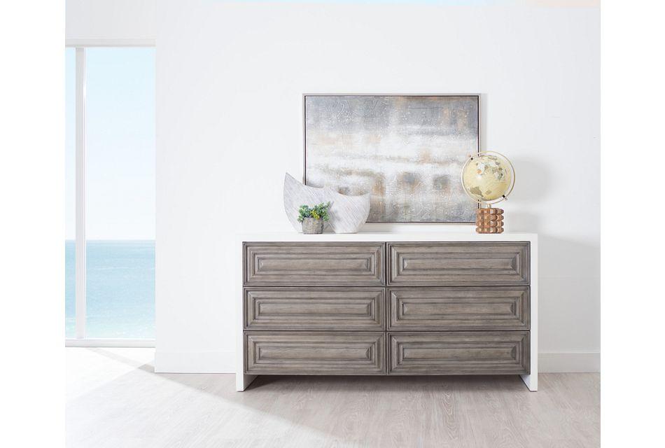 Goodman Light Tone Wood Dresser