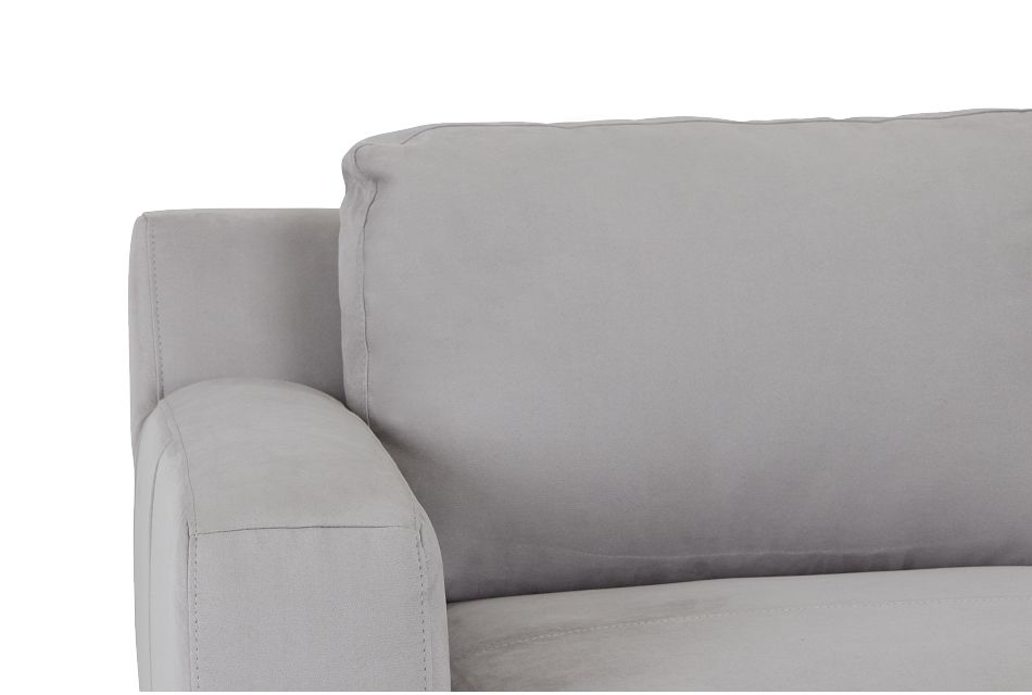Wynn Light Gray Micro Right Chaise Sectional