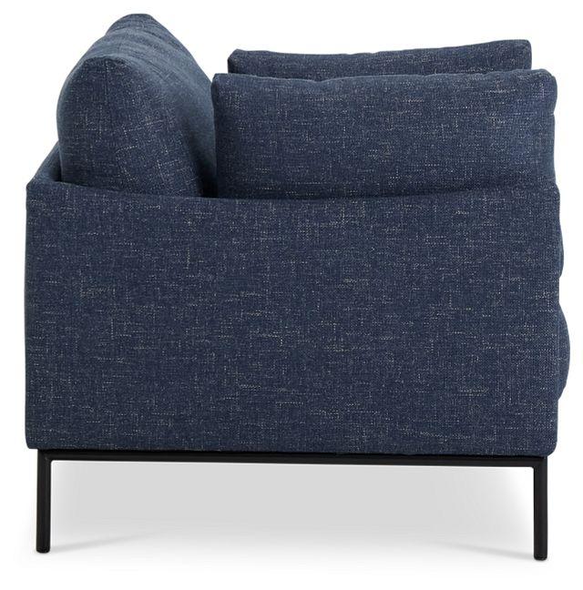 Oliver Dark Blue Fabric Chair (2)