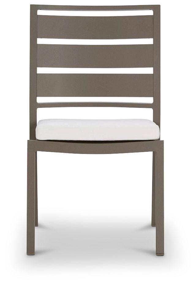 Raleigh White Aluminum Side Chair (2)