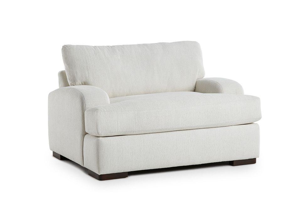 Alpha White Fabric Chair