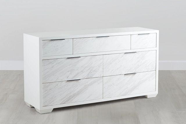 Ocean Drive White Marble Dresser (0)