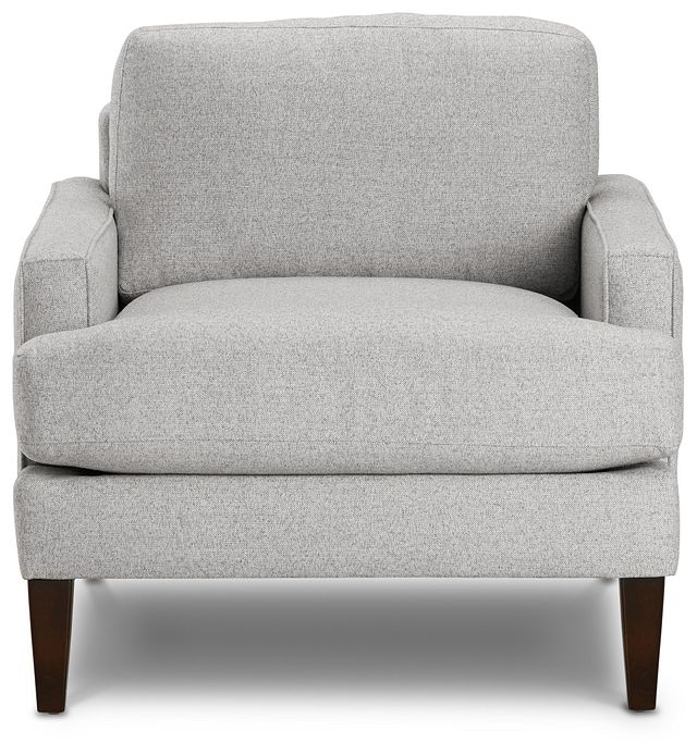Morgan Light Gray Fabric Chair With Wood Legs (3)