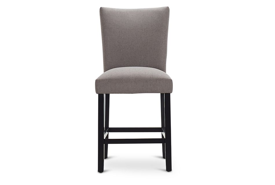 "Auburn Dark Gray Fabric 24"" Upholstered Barstool,  (3)"