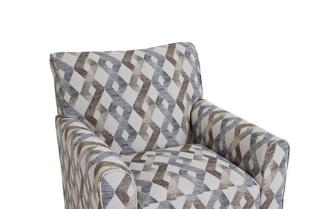Myra Multicolored Fabric Accent Chair