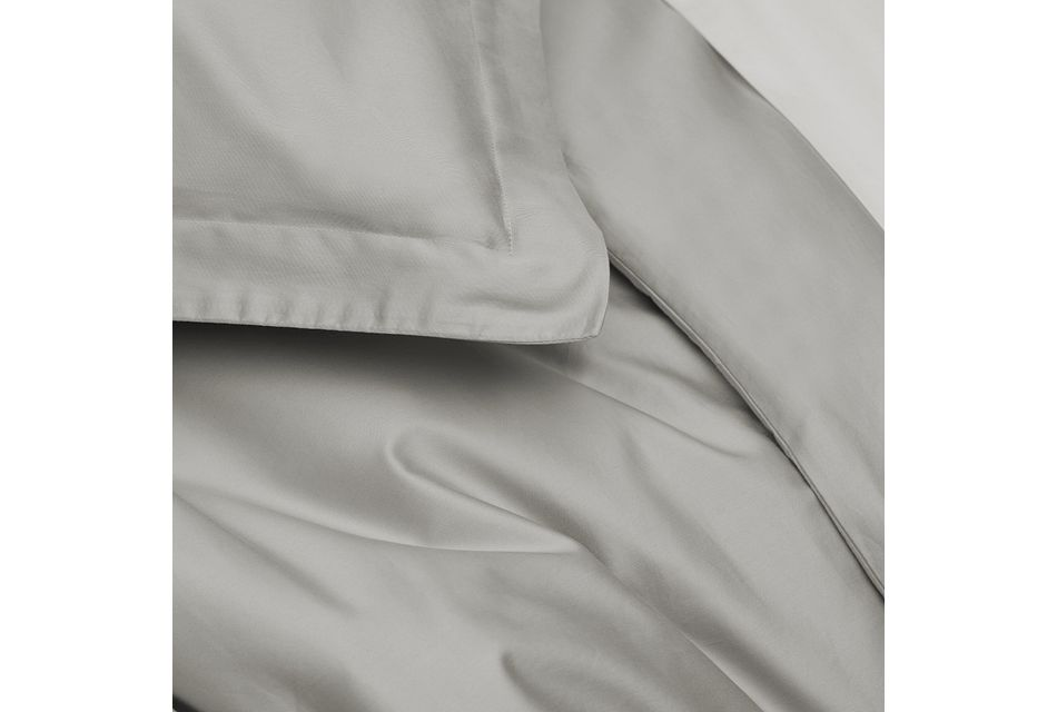 Cotton Sateen Gray 300 Thread Duvet Set